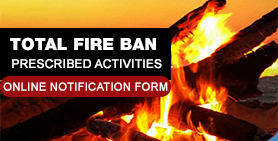 Total Fire Bans - Online Notification Form